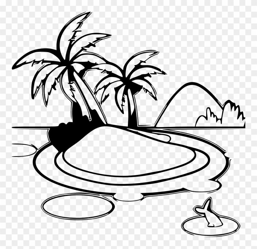 Black and white island clipart banner royalty free stock Island Clipart Drawing - Tropical Island Clipart Black And White ... banner royalty free stock