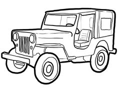 Black and white jeep clipart jpg free stock Jeep Clipart Black And White | Free download best Jeep Clipart Black ... jpg free stock