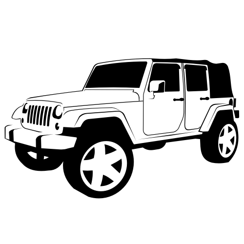Silver jeep clipart image black and white stock clipart of jeep rubicon - Google Search | Misc. | Jeep wrangler x ... image black and white stock