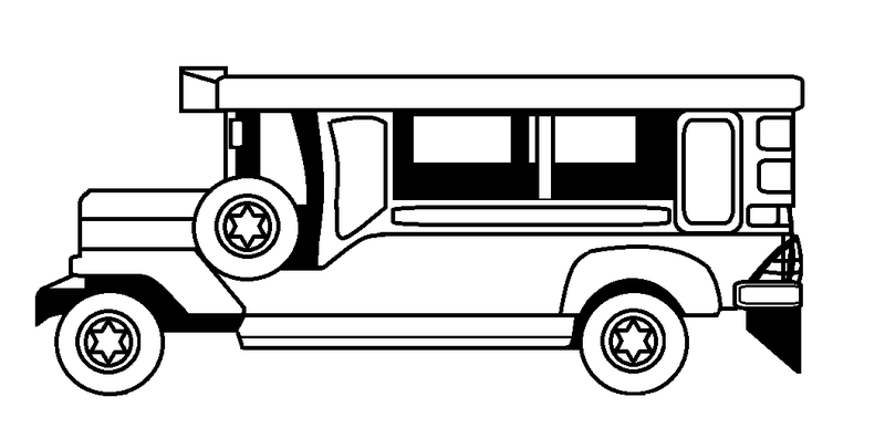 Black and white jeep clipart clip art free library Download Free png Jeep clipart black and white - DLPNG.com clip art free library