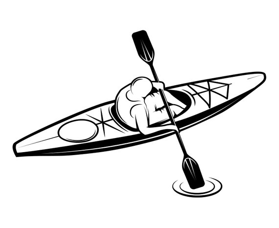 Black and white kayak clipart png download Kayak Clipart Black And White (92+ images in Collection) Page 2 png download