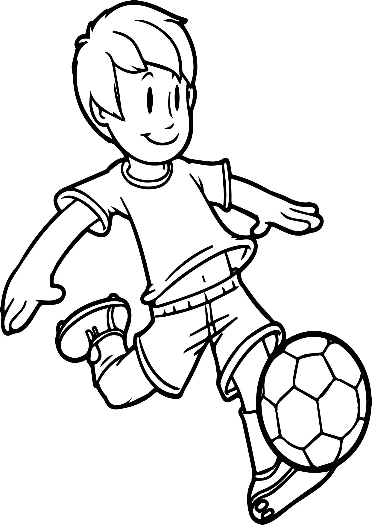 Boy soccer player clipart black and white picture transparent Awesome Football Clipart Black and White | Soccer Wallpaper picture transparent