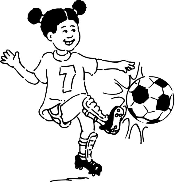 Boy soccer player clipart black and white clipart free stock Kids Playing Football Clipart | Free download best Kids Playing ... clipart free stock