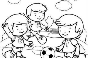 Black and white kids playing soccer clipart image black and white library Football player clipart black and white kids » Clipart Portal image black and white library
