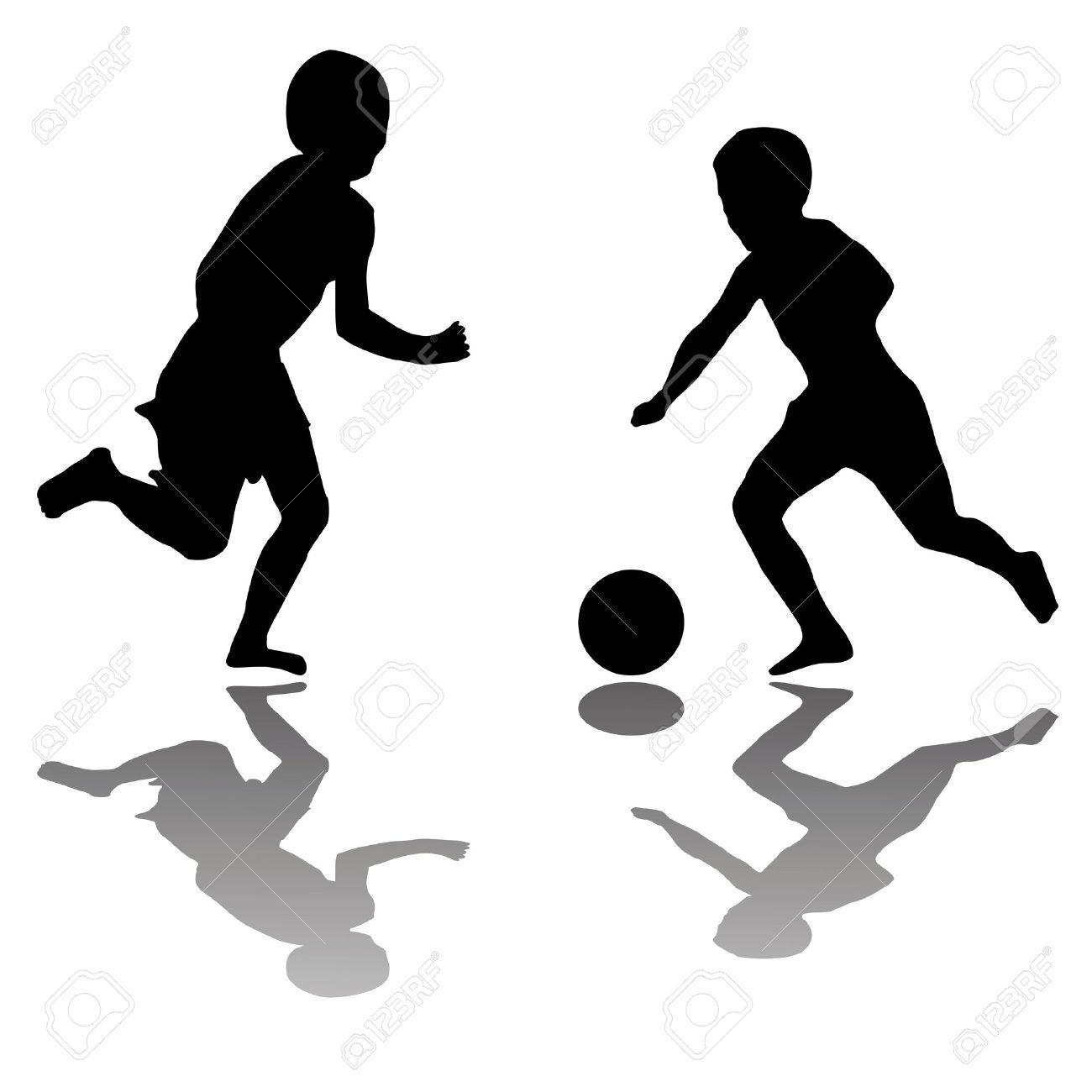 Boy soccer player clipart black and white banner black and white download Kids Playing Football Clipart Black And White - ClipartXtras | Gifs ... banner black and white download