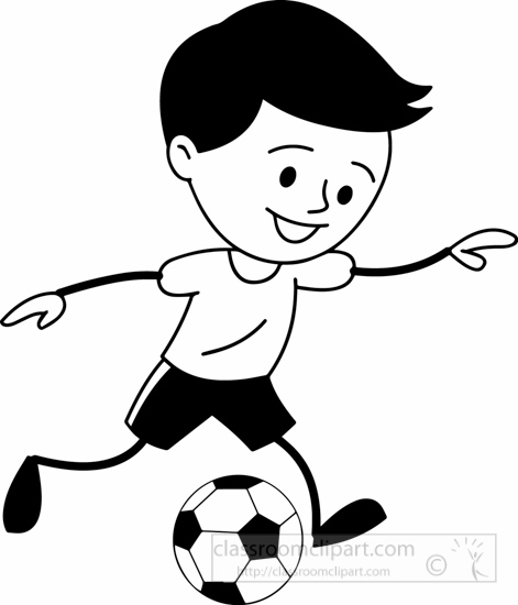 Boy soccer player clipart black and white banner royalty free library Free Soccer Boy Cliparts, Download Free Clip Art, Free Clip Art on ... banner royalty free library