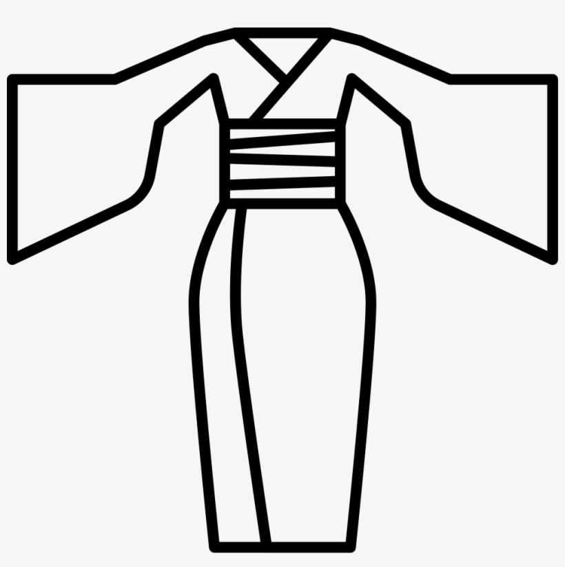 Black and white kimono clipart graphic transparent stock Png File - Kimono Clip Art Black And White - Free Transparent PNG ... graphic transparent stock