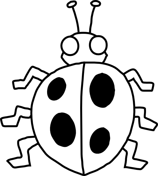 Black and white lady bug stem clipart clip freeuse download Free Black And White Ladybug Clipart, Download Free Clip Art, Free ... clip freeuse download