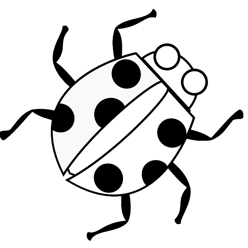 Black and white lady bug stem clipart picture stock Simple black-and-white ladybug tattoo design - Tattooimages.biz picture stock