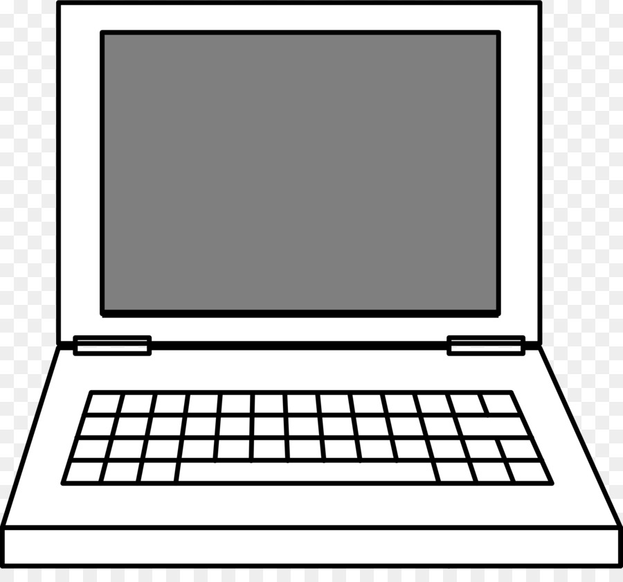 Black and white laptop clipart