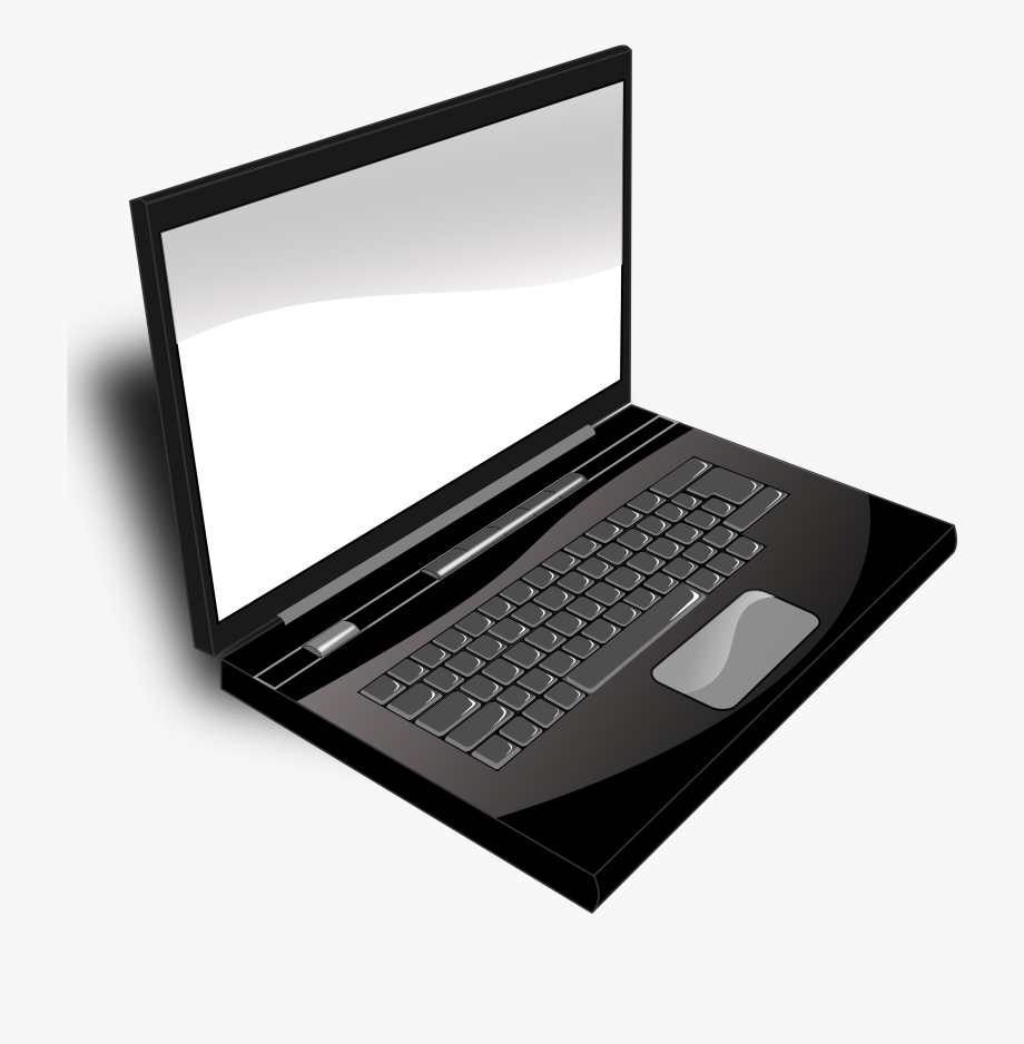 Computer laptop clipart svg download Computer Clipart - Image - Laptop Black And White , Transparent ... svg download