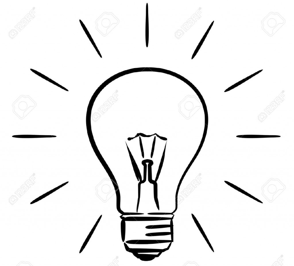 Black and white lighting clipart black and white library Light Bulb Clipart Images - Clipartion.com black and white library