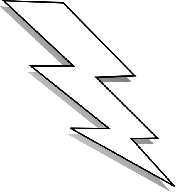 White lightning clipart vector freeuse stock Black And White Lightning Bolt | Clipart Panda - Free Clipart Images vector freeuse stock