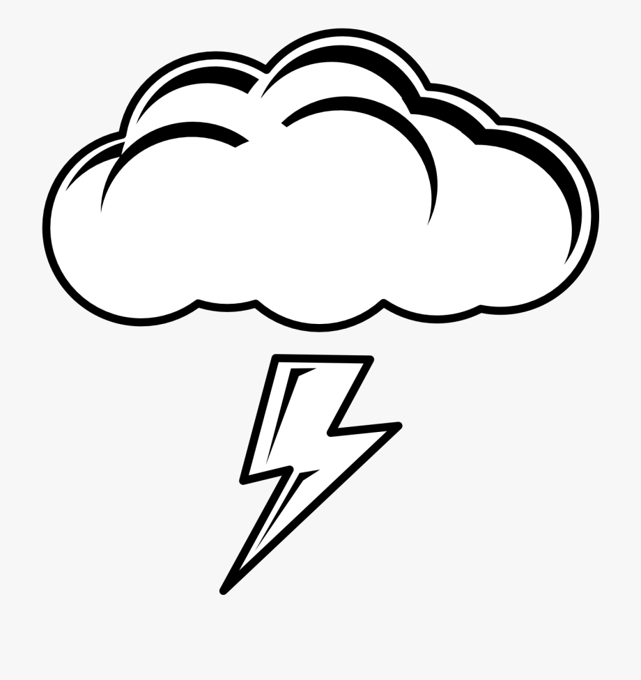 Black and white lightning clipart free download Cloud Lightning Clipart - Rainy Clipart Black And White #109283 ... free download