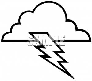Lightning clipart black and white library Black and White Lightning Cloud - Royalty Free Clipart Picture library