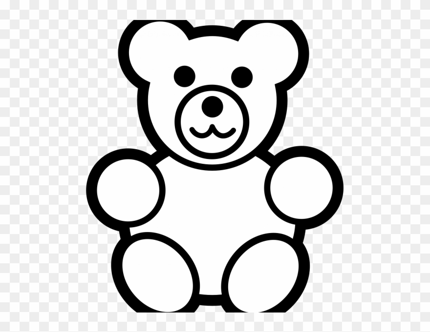 Black and white line drawings clipart clip royalty free library Line Drawing Teddy Bear - Bear Clip Art Black And White - Png ... clip royalty free library