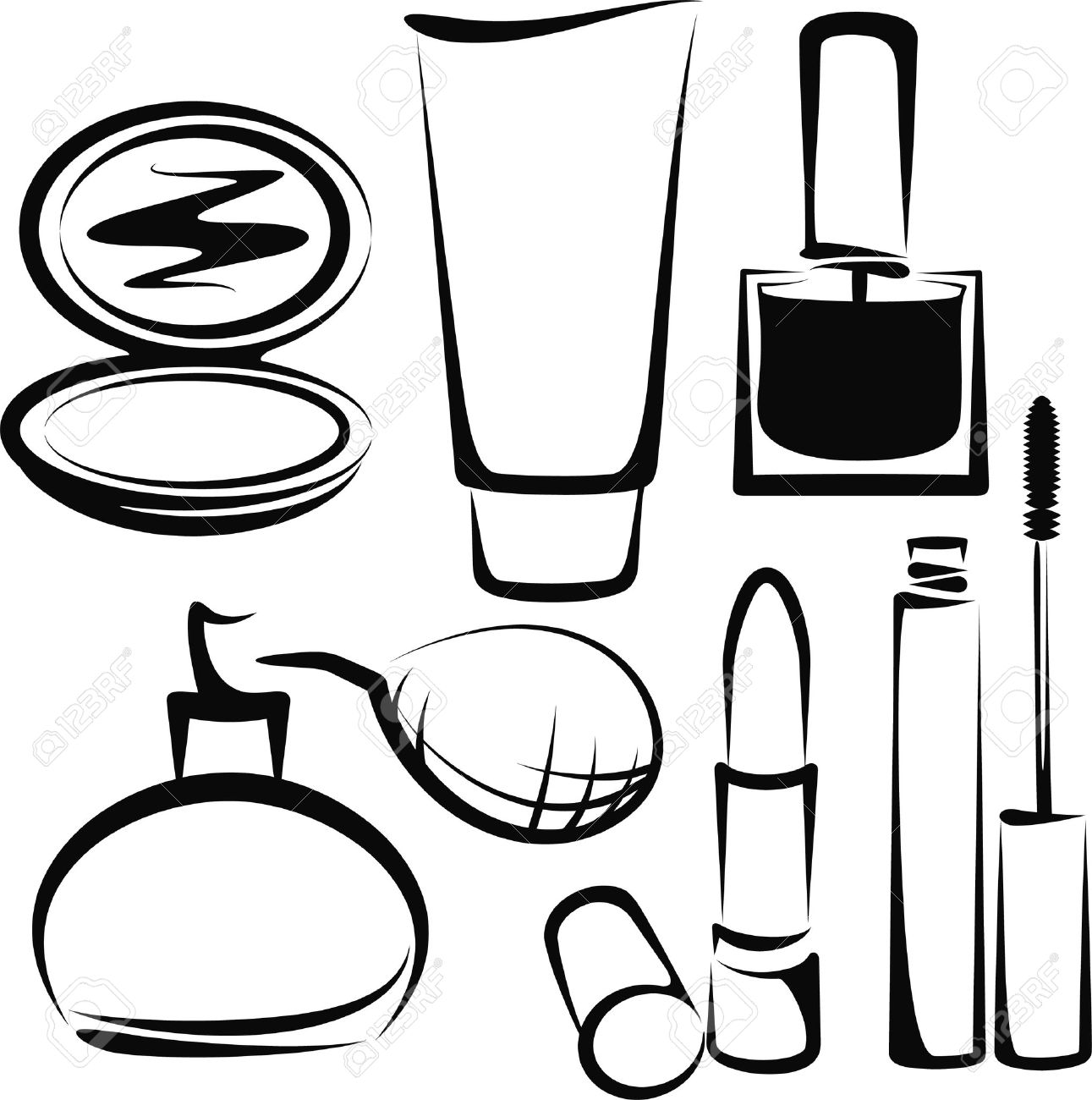 Cosmetic clipart image freeuse library Cosmetics Clipart | Free download best Cosmetics Clipart on ... image freeuse library