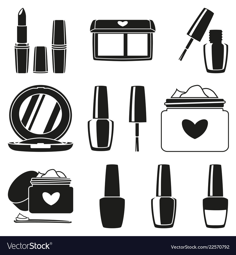 Black and white makeup clipart clip art royalty free stock 11 black and white makeup silhouette elements clip art royalty free stock