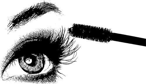 Black and white makeup clipart clipart black and white library Pin by Latanya Gilbert on Makeup | Mascara brush, Eyelashes, Lashes clipart black and white library