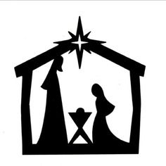 Nativity clipart black and white png Free Black And White Manger Clipart, Download Free Clip Art, Free ... png