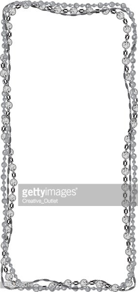 Black and white mardi gras clipart beads clipart transparent Mardi Gras Beads Frame stock vectors - Clipart.me clipart transparent