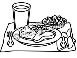 Covered dish lunch black and white clipart clip black and white download Meal Clipart Black And White & Free Clip Art Images #10006 ... clip black and white download