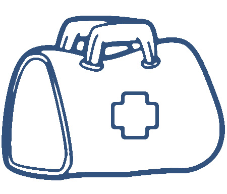 Black and white medical bag clipart free