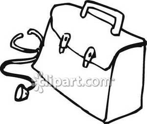 Black and white medical bag clipart free banner free download Black and White Stethoscope Next To a Medical Bag - Royalty Free ... banner free download