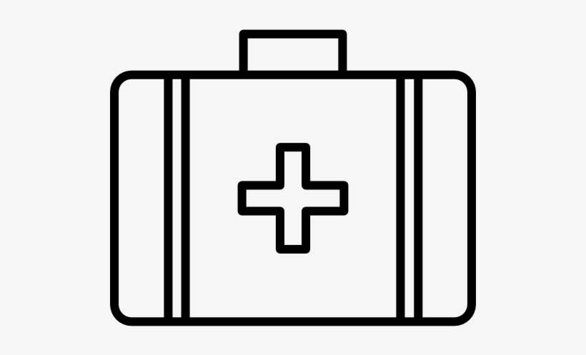 Black and white medical bag clipart free clip library stock First Aid Kit Clipart Black And White - Free Transparent PNG ... clip library stock
