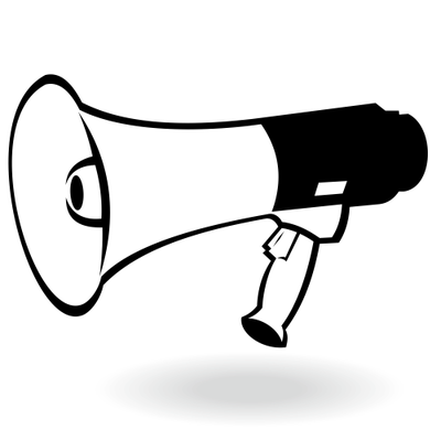 Black and white megaphone clipart vector royalty free library Free Flat Black & White Portable Megaphone Clipart and Vector ... vector royalty free library