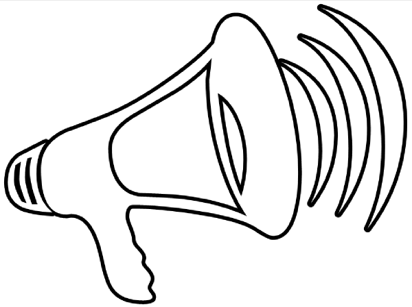 Black and white megaphone clipart png freeuse download Megaphone clipart 6 – Gclipart.com png freeuse download