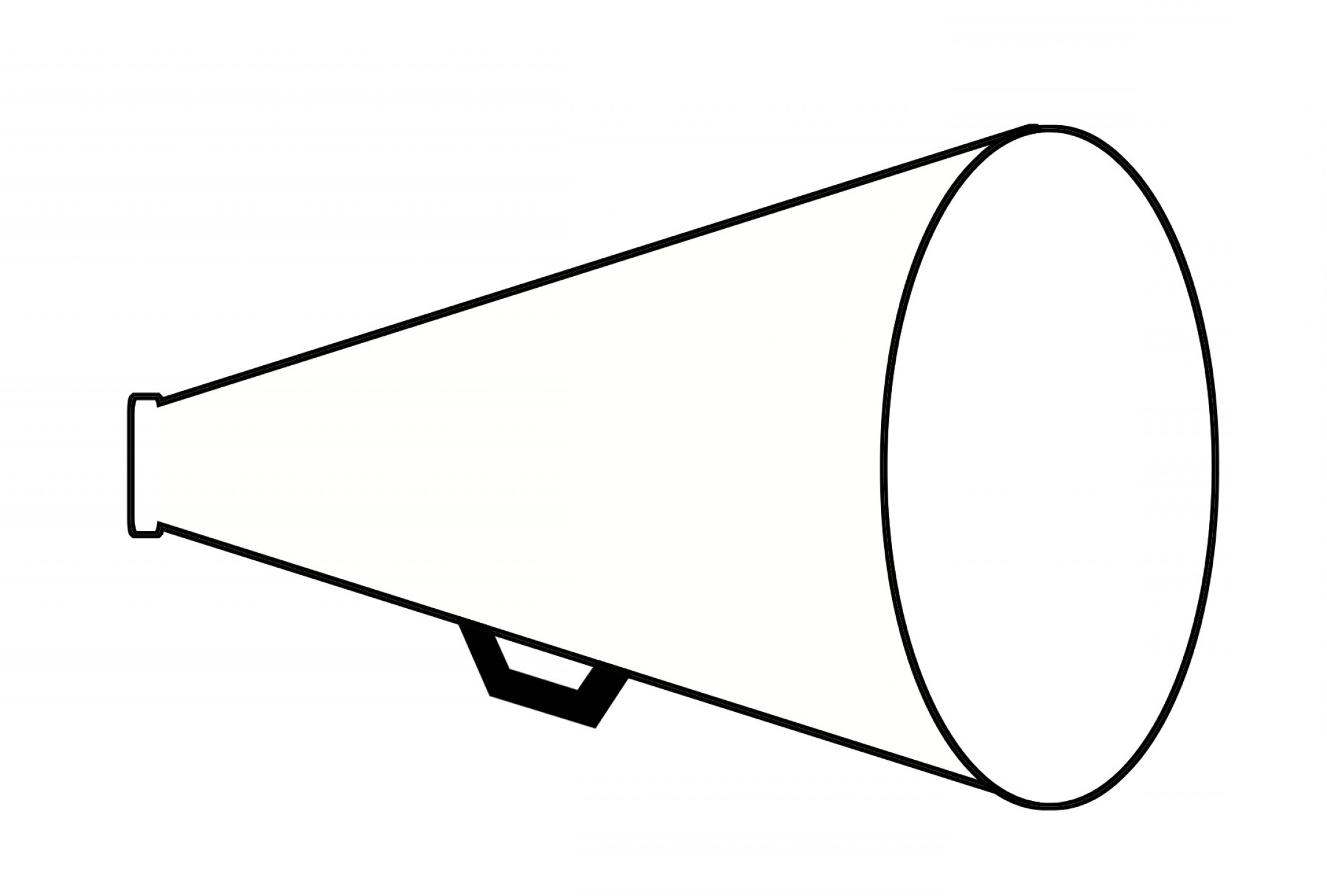 Black and white megaphone clipart svg transparent library Megaphone Clip Art Black And White | SOIDERGI svg transparent library