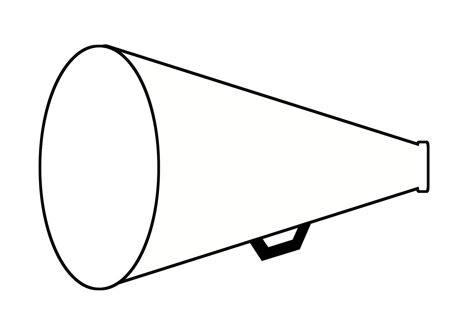 Black and white wikiclipart. Free cheer megaphone clipart