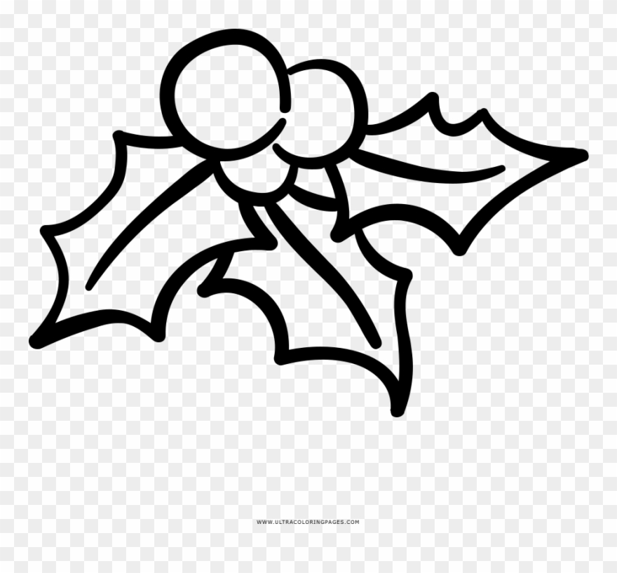 Library of black and white mistletoe svg freeuse png files ...