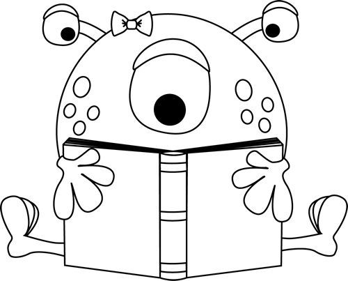 Monster black and white clipart graphic black and white library Free Black And White Monster Clipart, Download Free Clip Art, Free ... graphic black and white library