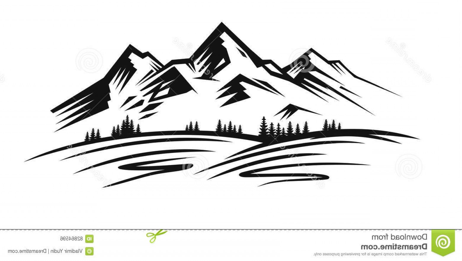 Black and white mountains clipart colorado line drawing banner library stock Black And White Mountain Sketch at PaintingValley.com | Explore ... banner library stock