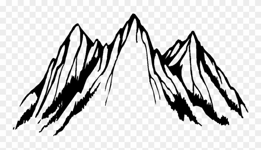 Black and white mountains clipart colorado line drawing image black and white download Clip Art Black And White Mountain - Png Download (#3390027) - PinClipart image black and white download