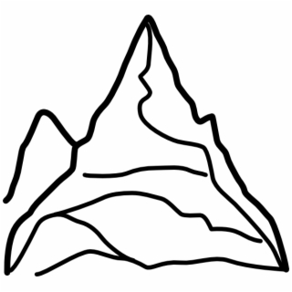 Black and white mountains clipart colorado line drawing png freeuse Free Mountain PNG Images & Cliparts - Pngtube png freeuse