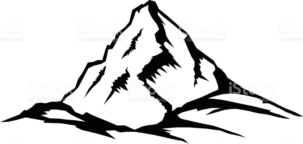 Mountai clipart png transparent library Mountain Black And White Clipart | Free download best Mountain Black ... png transparent library