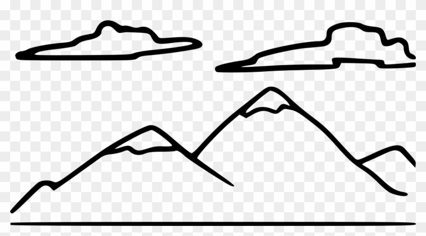 Black and white mountains clipart colorado line drawing png black and white library Drawing Mountain Black And White Diagram Computer - Mountain Clip ... png black and white library
