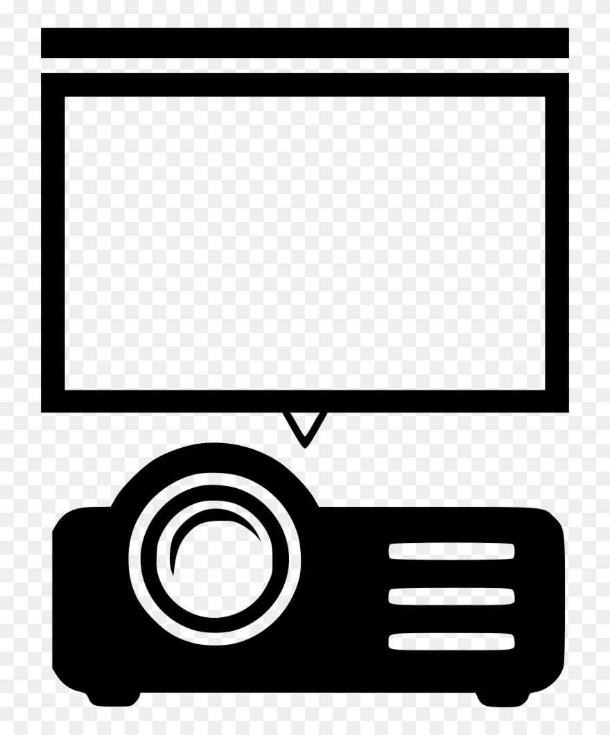 Clipart oprojecttor picture transparent Projector Screen Movie Presentation Comments - Projector Screen Icon ... picture transparent