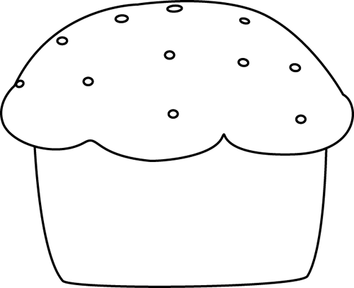 Black and white muffin clipart picture freeuse Black and White Muffin Clip Art - Black and White Muffin Image picture freeuse