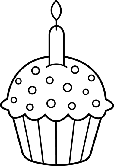 Black and white muffin clipart jpg freeuse Best Cupcake Clipart Black And White #5199 - Clipartion.com | Just ... jpg freeuse