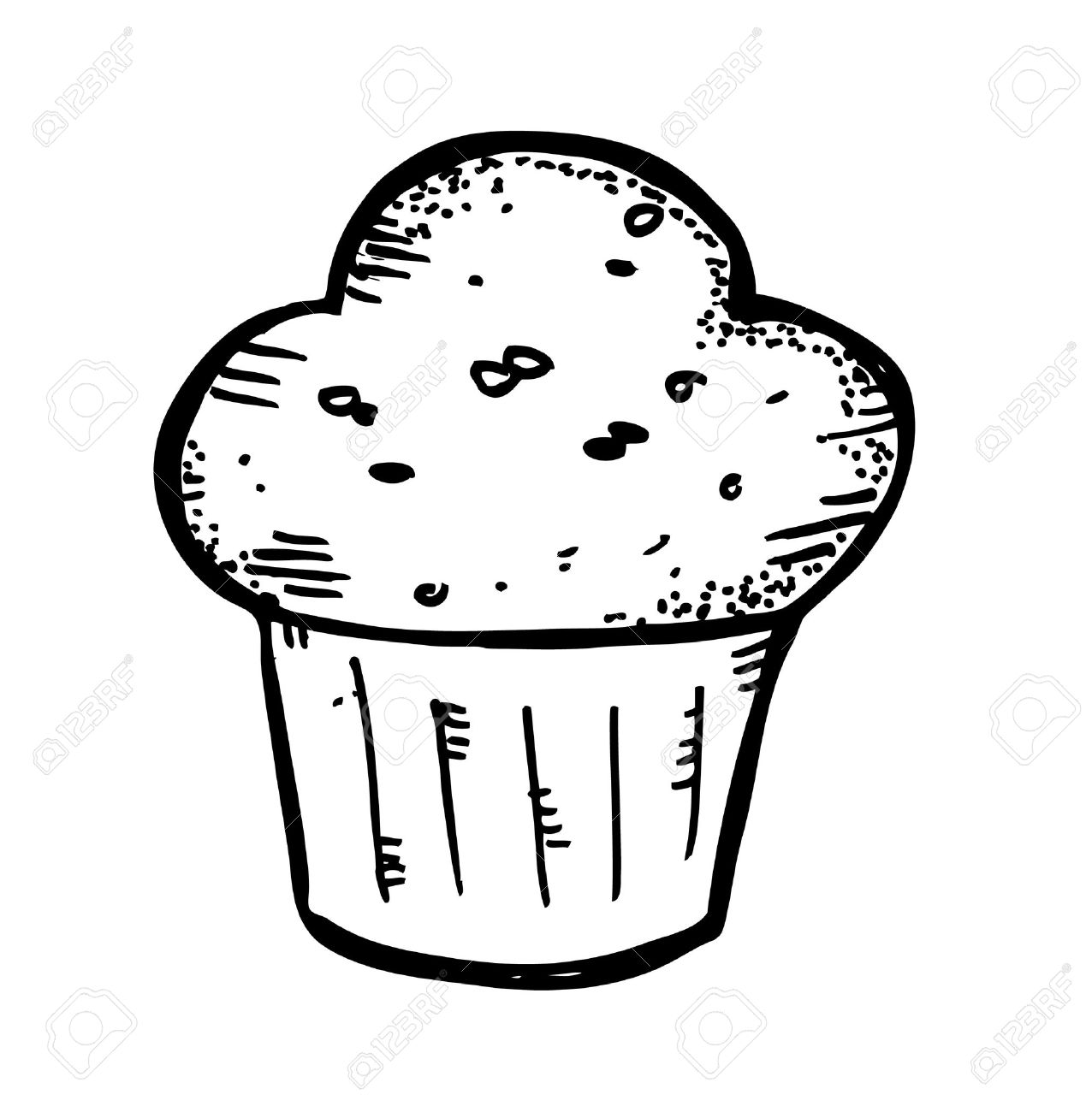 Black and white muffin clipart vector black and white Muffin clipart black and white 4 » Clipart Station vector black and white