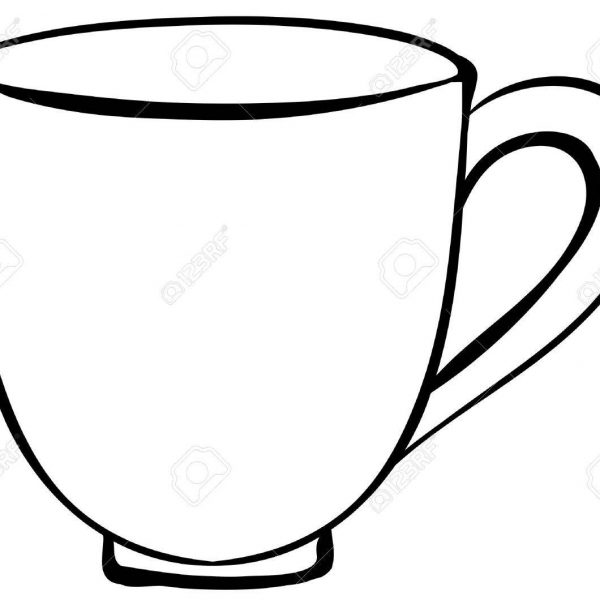 Cup clipart black and white svg free library Closeup Plain Design Of Coffee Cup Royalty Free Cliparts, Vectors in ... svg free library