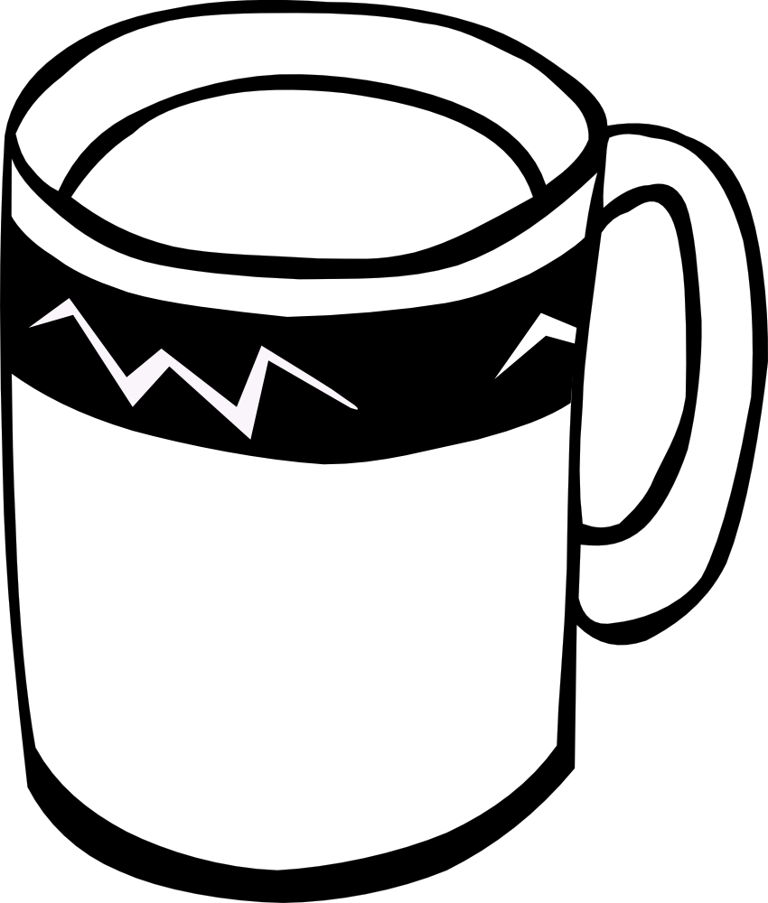 Cup clipart black and white vector freeuse Black And White Mug Clipart Dirbgbt - Clipart1001 - Free Cliparts vector freeuse