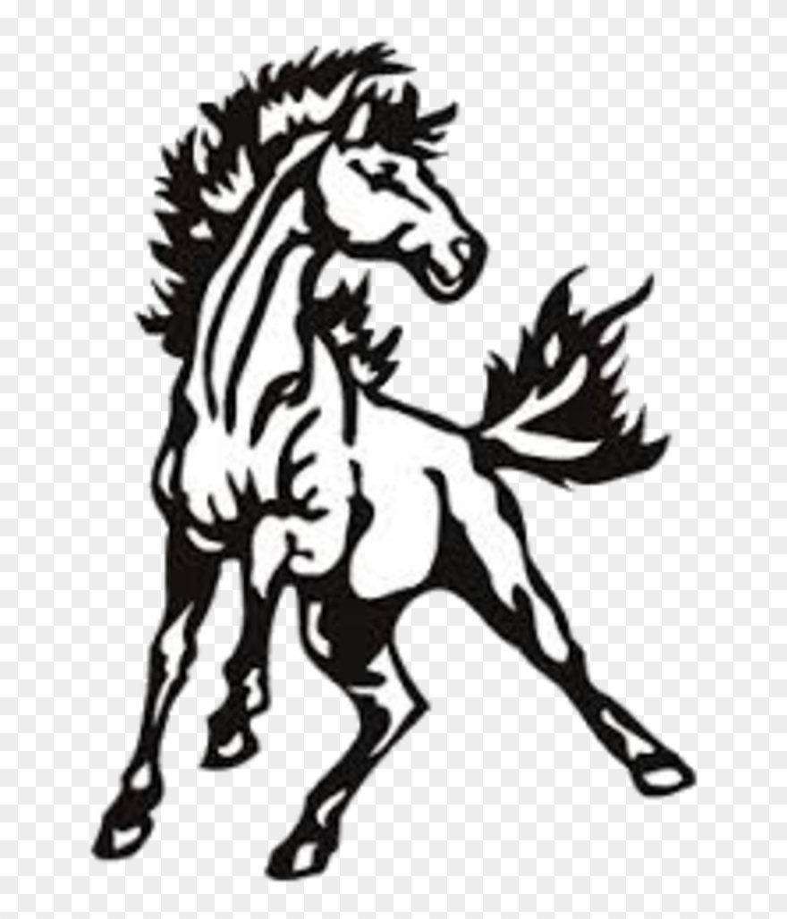 Mustangs horse clipart vector library Mustang Clipart Pride - Davis County Mustangs Logo - Png Download ... vector library