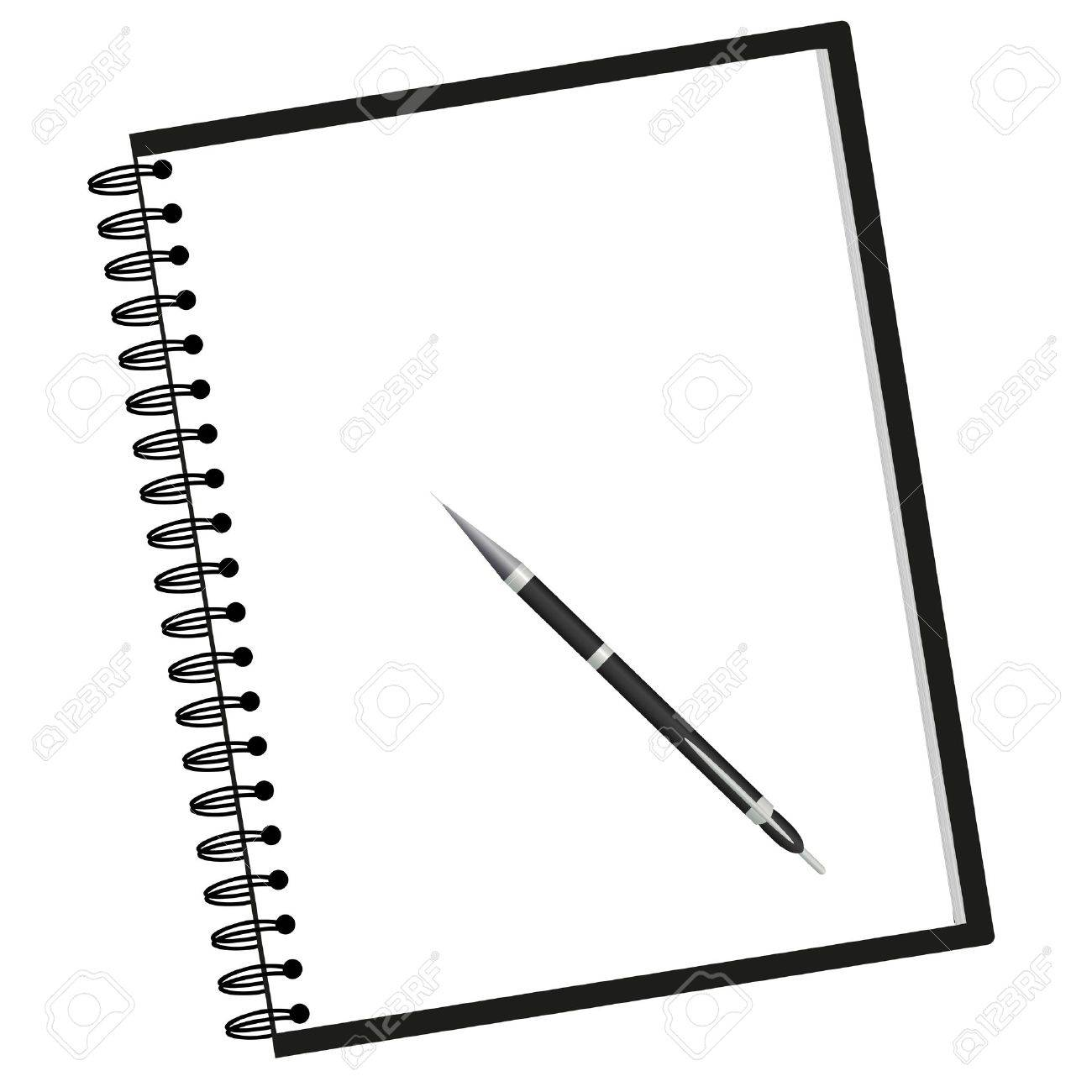 White notebook clipart png black and white library Notebook Clipart Black And White | Free download best Notebook ... png black and white library