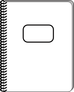 Black and white notebook inside cover clipart image Notebook Clipart Black And White | Free download best Notebook ... image