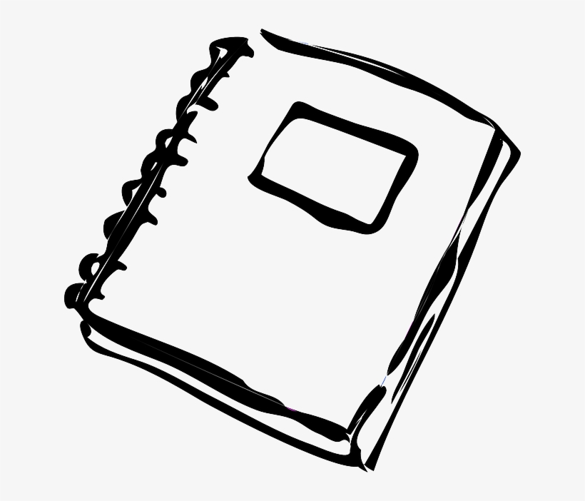 Black and white notebook inside cover clipart clip library stock Notebook, Ring Binder, Loose-leaf, Paper, Office - Black And White ... clip library stock